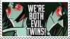 We're Both Evil Twins Stamp by ZiBaricon