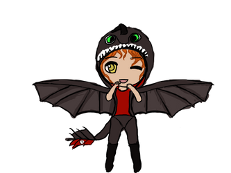 [OCA Event: Halloween] ~NIGHTFURY! GET DOWN!~ by 19bloom