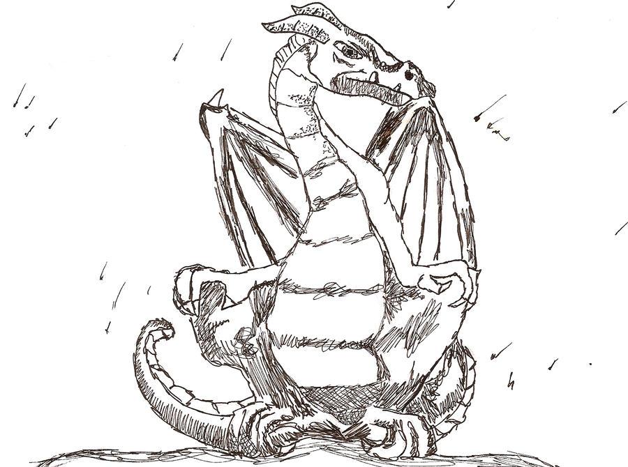 Black Dragon by SpyroGirl22
