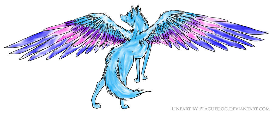 Winged wolf by SpyroGirl22