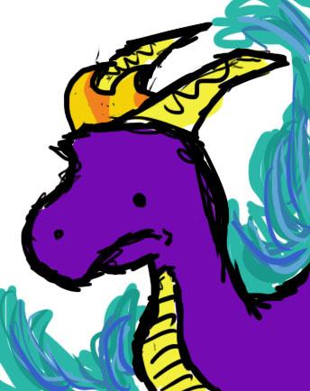 Spyro doodle by SpyroGirl22