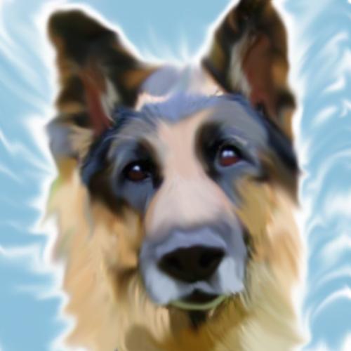 German Shepherd by SpyroGirl22
