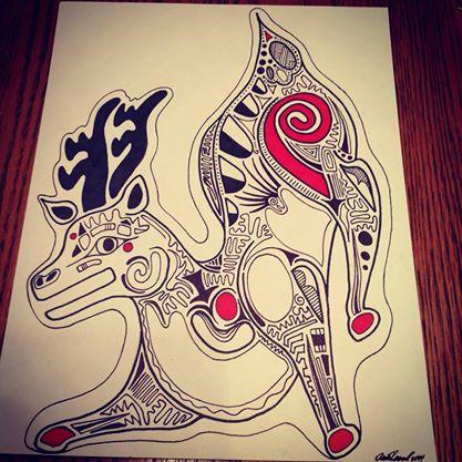 Totem Deer by SpyroGirl22