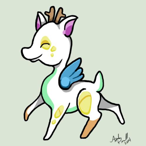 Pastel Fawn by SpyroGirl22