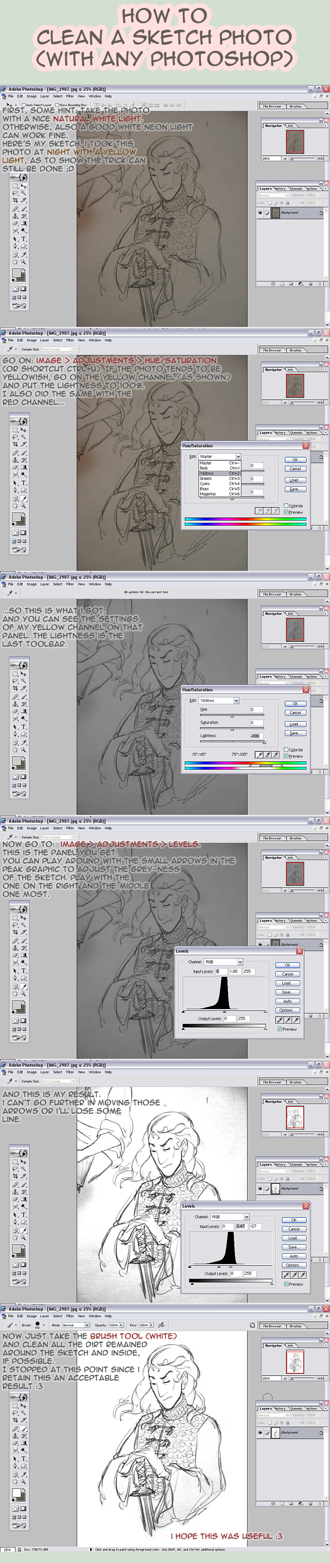 how to clean photos - tutorial by KuroSy