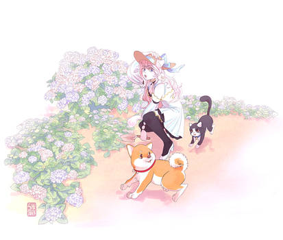 SS: Hortensia for Moochirin by KuroSy