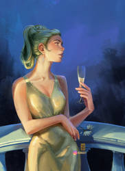 Lady with a glass