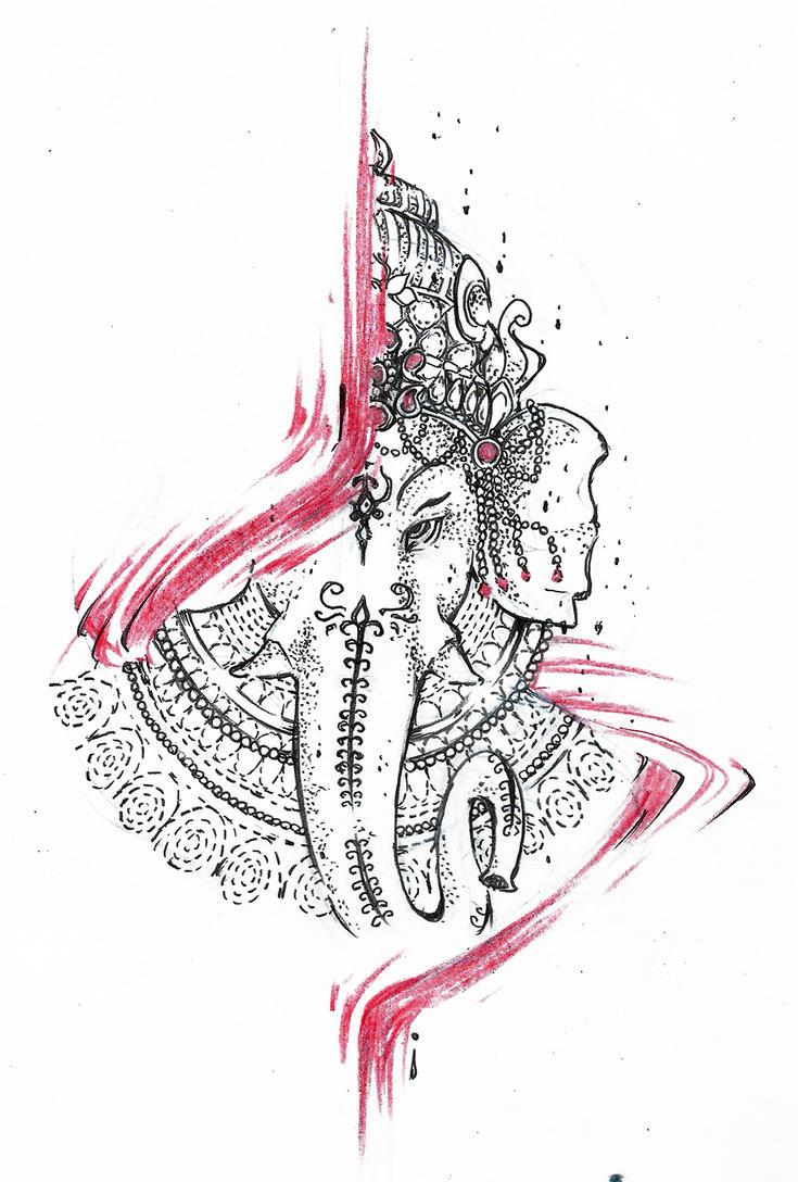 ganesha tattoo design by agresivoo on deviantart. Black Bedroom Furniture Sets. Home Design Ideas