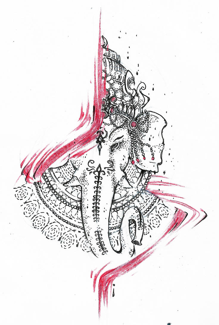 Ganesh Design Tattoo