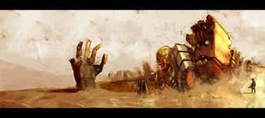 Desert abandoned mech by Trudsss