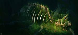 Dinosaur at peace