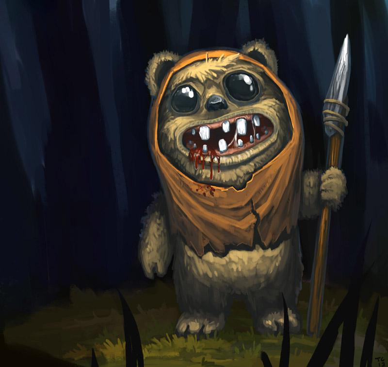 Evil ewok by trudsss on deviantart - Ewok wallpaper ...