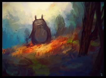 Sunday Totoro by Trudsss