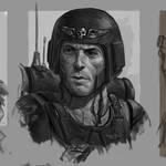 Imperial Guardsman Portrait Sketch