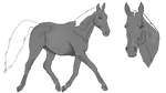 Horse Gray Scale
