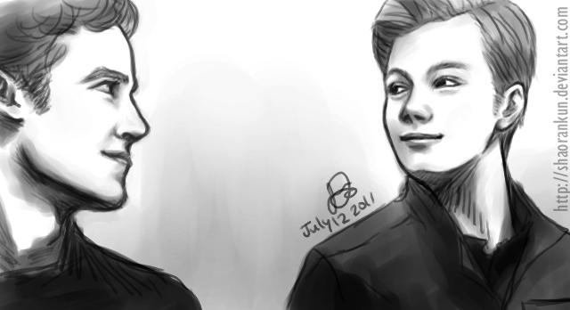 Kurt and Blaine by ShaoranKun