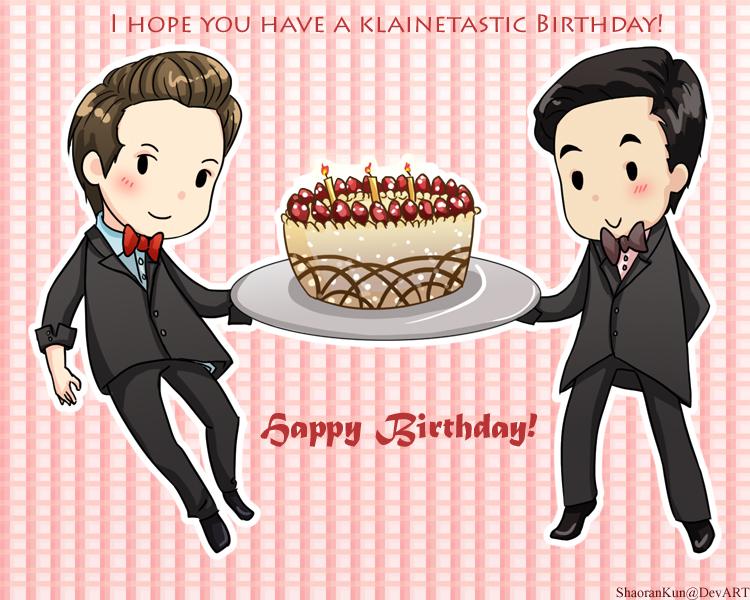 Klaine - B-Day Card - Glee