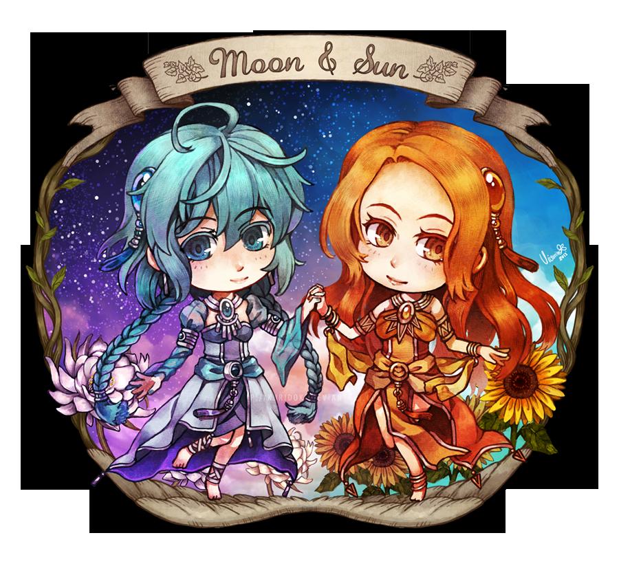 Moon and Sun by kuridoki