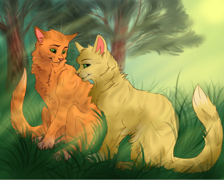 warrior cats sandstorm and firestar mating wwwimgkid