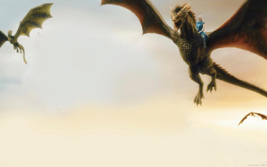 Daenerys Dragon Wallpaper Watermark By Tywinning On DeviantArt