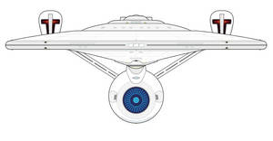 NCC-1701 USS Enterprise A/E Merged and Reimagined