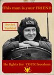 Soviet Tankist Propaganda Poster