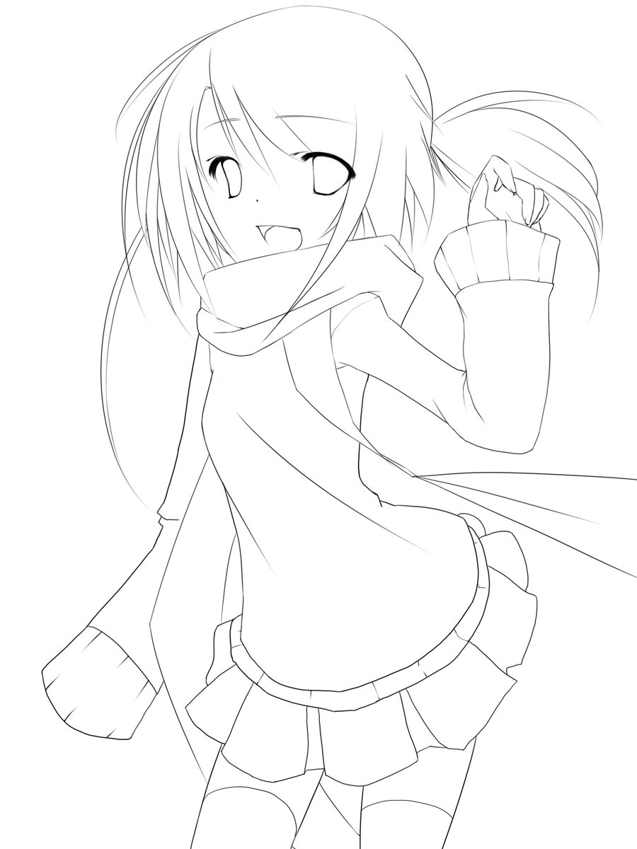 Cute anime line art www galleryhip com the hippest pics card from user violetsea19 in yandex collections