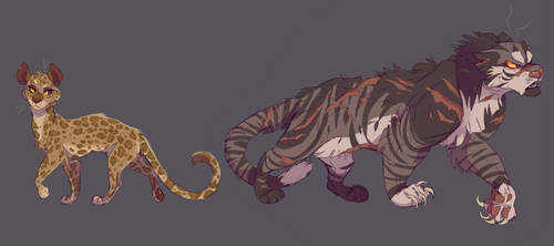 Leopardstar and Tigerstar by WeHaveCandy