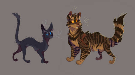 Crowfeather and Bramblestar by WeHaveCandy