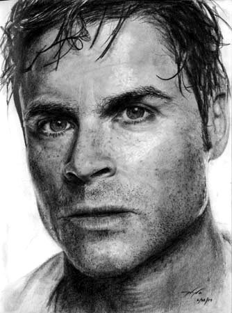 Rob Lowe Pencil Sketch by ninagolemi