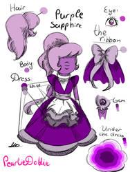 SU  My Sapphire gemsona - Purple Sapphire REF