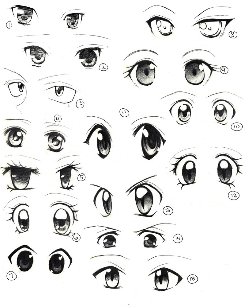 Young JENNA anime girl eyes