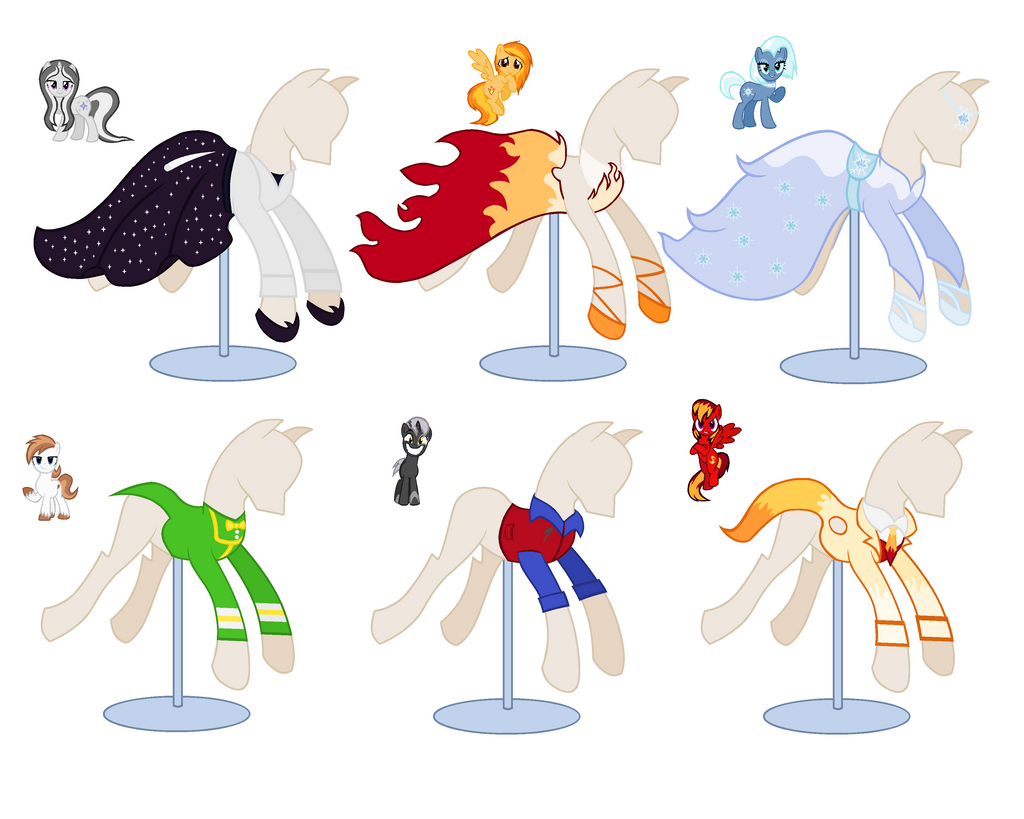 My MLP FiM OCs Gala Outfit Remakes By PeregrinStaraptor On DeviantArt