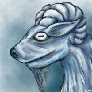 White walker goat. Happy Year of the Goat!