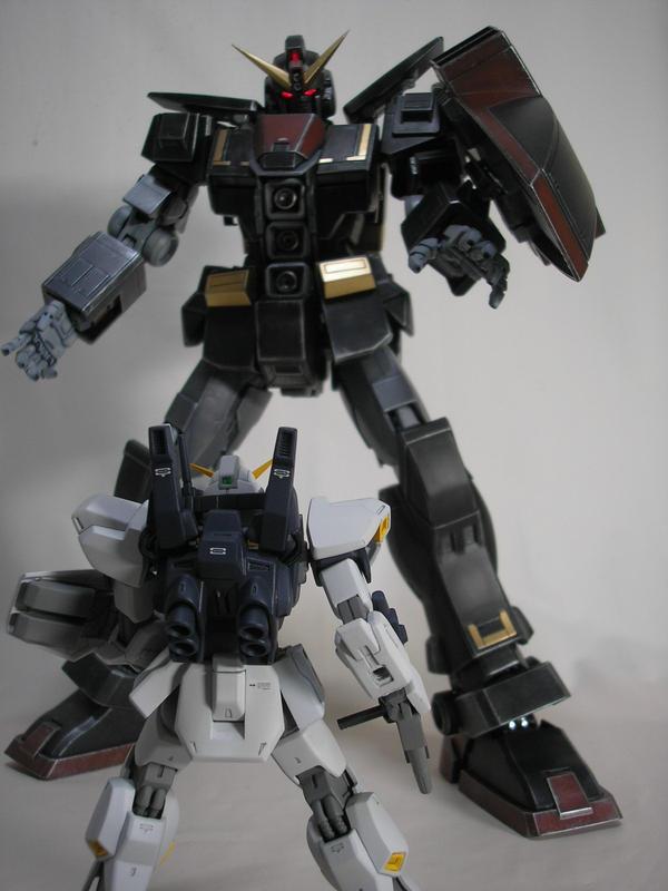 GUNDAM Mk-2 VS PSYCO-GUNDAM 2 by yasu69