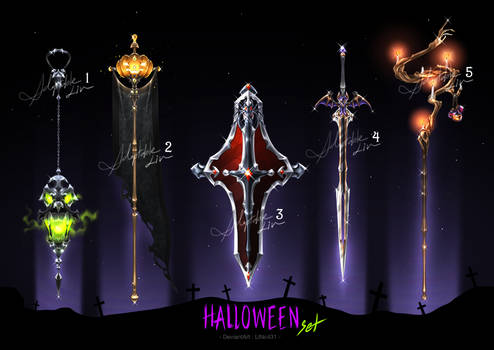 [ OPEN ]Adoptable Weapon (Halloween set)|Auction
