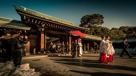 japanese wedding at Meiji Shrine