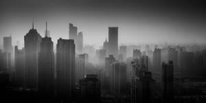 shanghai/puxi skyline by ChristianRudat