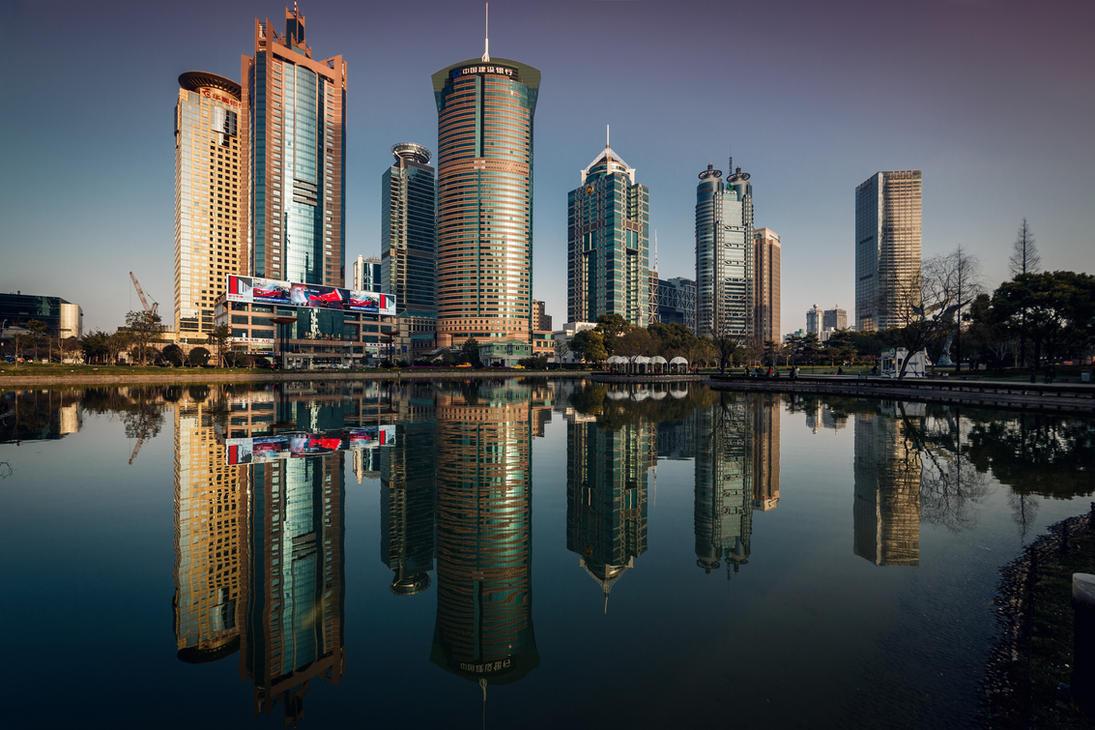 Pudong Skyline, Shanghai by ChristianRudat