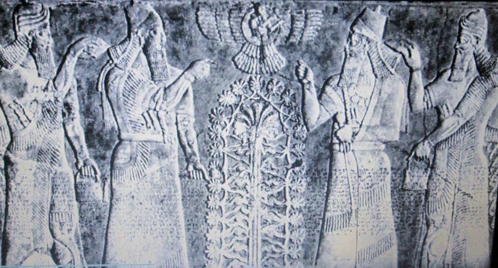 Sumerian/Akkadian Anunnaki Huluppu Sacred Tree by StevenEly