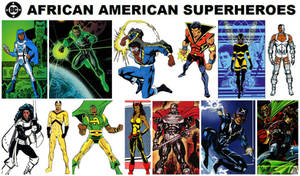 DC African American Superheroes by FreakTerrorizes