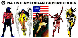 DC Native American Superheroes by FreakTerrorizes