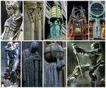 New York City is the real Gotham City: Statues by FreakTerrorizes