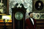 Wayne and Wayne Manor Grandfather Clock by FreakTerrorizes