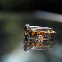TRIO - rings with citrines by galeriabellasartes