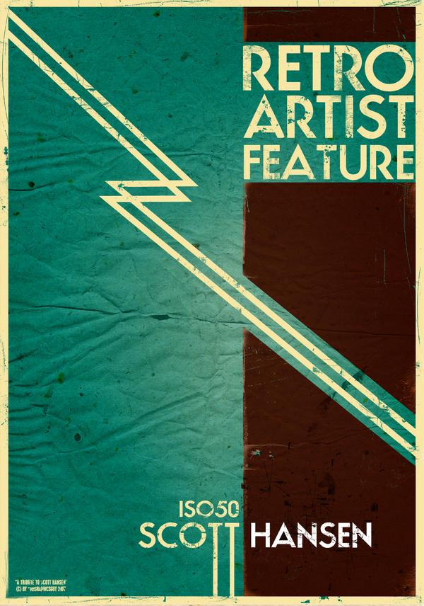 Retro Artist Poster