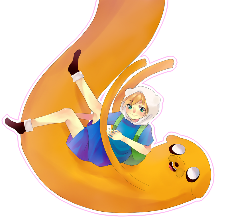 Jake the Dog and Finn the Human by poohzuru