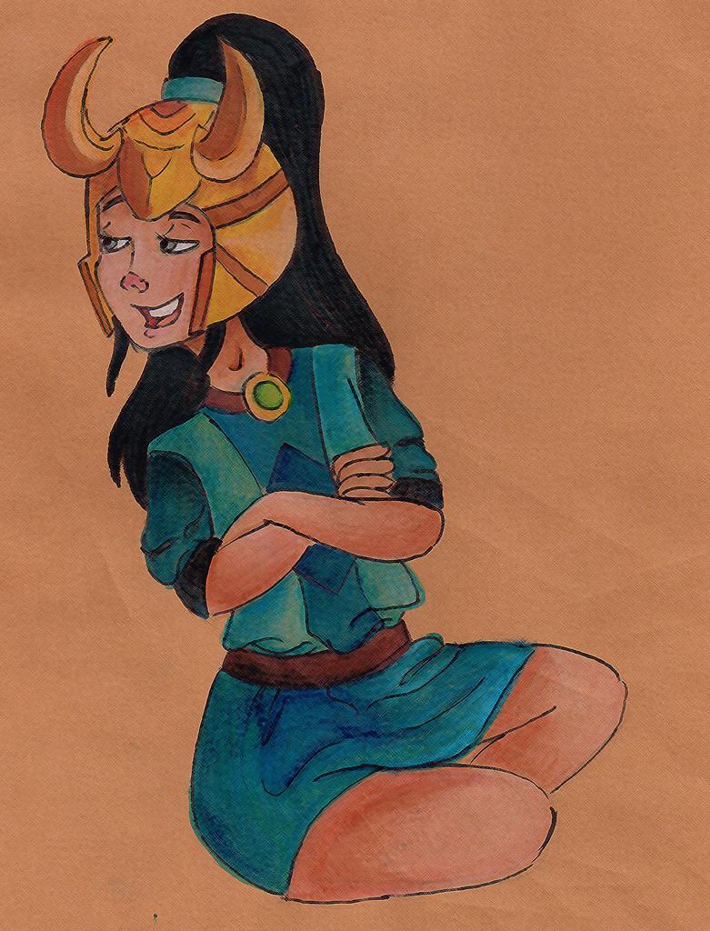 Loki's daughter by dulcifluous