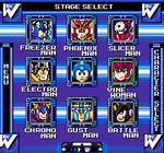 Megaman Magnamax Overload Stage Select