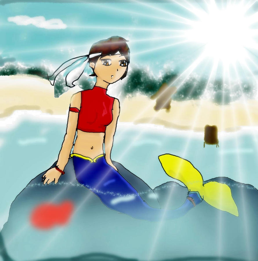 Sakura Kasugano: The Lil' Mermaid By Naya123gilda On